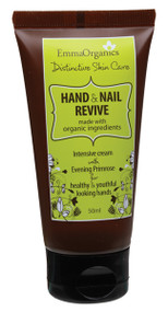 Emma Organics HAND AND NAIL REVIVE  is an intensive nourishing cream to improve the skin, cuticle and nails.  It helps repair the daily 'wear and tear' to deliver healthy, plump and glowing looking hands.  White Tea Leaf Extract - provides moisturising, softening, nourishing and demineralising benefits  Organic Cranberry Extract - promotes elasticity, firming and diminishes the appearance of wrinkles Organic Shea Butter, Avocado & Coconut oils  - hydrate, restore and prevent moisture loss. Solanum Lycopersicum Seed oil (tomato) - a powerful antioxidant, to quench UV induced free radicals
