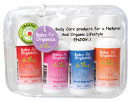 The Travel / Gift Pack is the perfect gift for a new mum to try the most popular products or to take on the road or when travelling.  It includes handy 50ml sizes of Baby Bath Wash, Baby Shampoo, Baby Moisturiser and Baby Nappy Lotion.