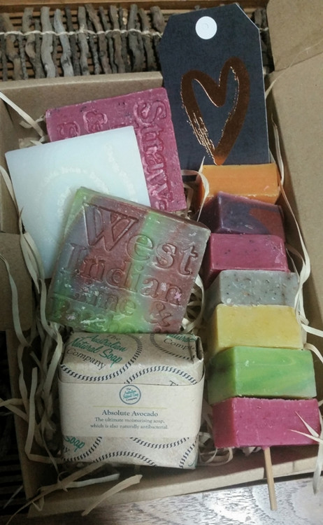 A selection of aromatic and completely natural soaps for the soap lover - and who isn't.  A great gift to give or keep for yourself to try a fabulous array of different scented soaps.