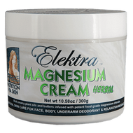 Warming Herbal Magnesium Cream Fragrance with overtones of ylang ylang, patchouli and rose geranium.  Rich creamy protection for extra dry or thin skin. Use this cream as a moisturiser once or twice a day all over your body, face, or underarm as a deodorant, or with relaxation massage.