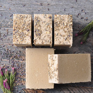 Oatmeal gently exfoliates with this natural hand cut soap.  Organic raw Cacao Butter, Organic Shea Butter, Organic Virgin Coconut Oil and Extra Virgin Olive Oil gently cleanse, leaving the skin smooth, soft & comfortable.