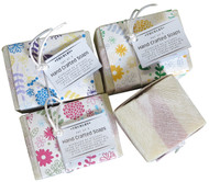These set of three herbal soaps are made using age old traditional methods. They are gently stirred, poured into moulds, cut into slabs and air cured for several months. Soap made this way has a creamy and moisturising lather, rich with natural glycerin.