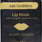 Enriched with active gold, collagen and nourishing plant extracts 24K Goddess Lip Masks leave the lips plump, smooth and instantly hydrated.