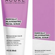 Welcome to skin wellness with Acure.  Facial scrub with Moroccan red clay and rose oil for age performance.