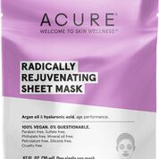 Welcome to skin wellness with Acure - Argan oil and hyaluronic acid sheet mask, age performance