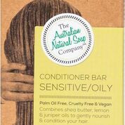 Combines shea butter with pure lemon & juniper oil to gently nourish and condition your hair.  Use in conjunction with our solid shampoos (oily, sensitive scalp) to condition your hair and provide extra body and shine. A little goes a long way.  Directions: After shampooing, apply directly to the scalp and lather. Massage to the ends. Rinse & repeat if required.  Ingredients: Saponified Sweet Almond, Saponified Shea Butter, Lemon Oil, Juniper Oil