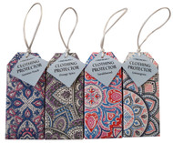 Mandala Herbal Anti-Moth Clothing Protectors are available in four fragrances – Jasmine Peach, Orange Spice, Sandalwood & Lemongrass. Hang this sachet in your cupboard to naturally perfume and freshen your clothing while repelling insects.