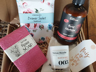 Full of beautiful products with gorgeous smells.  Our Pamper Pack Gift Box is one of our most popular!