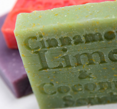 Great for the summer time. Lime oil is most suitable for greasy skin, helping with acne and refining large pores. Lime oil also used in many skin toners for this reason.  This is one of our most popular soaps due to the added spice of cinnamon leaf oil which has a fabulous scent.  Shredded coconut is added so the soap can be used as a gentle exfoliant.