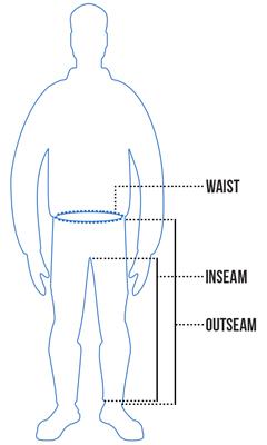 Mens Pants Size Chart