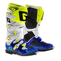Gaerne SG-12 Colored Boots - White/Blue/Neon