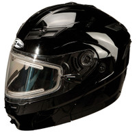 GMax GM54S Black Snow With Electric Shield Modular Helmet