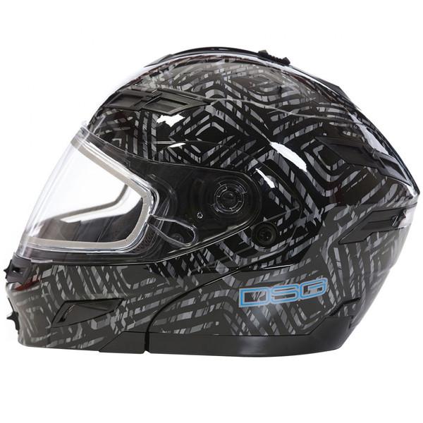 GMax DSG GM54S AZTec Modular Helmet Black