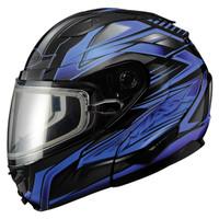 Gmax GM64S Snow Modular Helmet Black/Blue