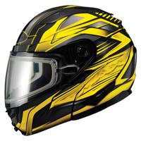 Gmax GM64S Snow Modular Helmet Black/Yellow