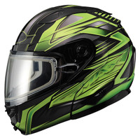 Gmax GM64S Snow Modular Helmet Green/Black