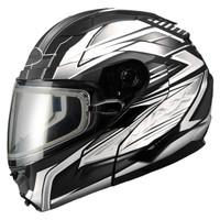 Gmax GM64S Snow Modular Helmet Black/White