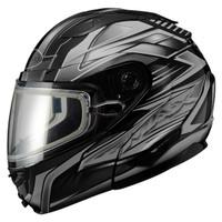 Gmax GM64S Snow Modular Helmet Black/dark Silver