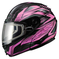Gmax GM64S Snow Modular Helmet Black/Pink