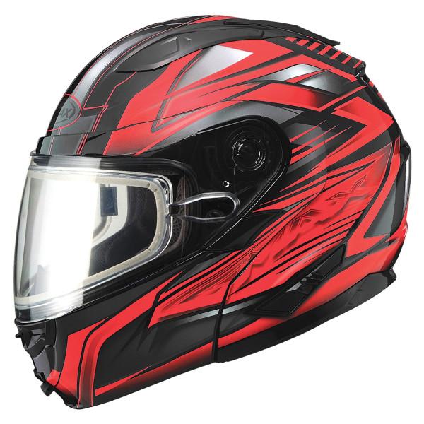 Gmax GM64S Snow Modular Helmet Black/Red