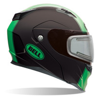 Bell Revolver Evo Rally Snow Helmet with Electric Shield Green