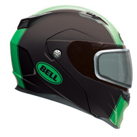 Bell Revolver Evo Rally Snow Helmet with Dual Shield Green