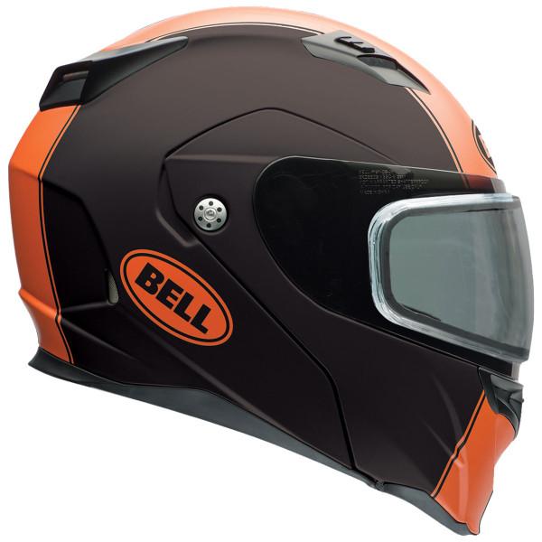 Bell Revolver Evo Rally Snow Helmet with Dual Shield Orange