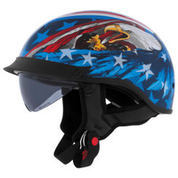 Cyber U-72 Eagle Half Helmet with Internal Shield