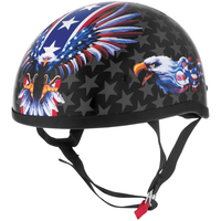 Skid Lid USA Flame Eagle Half Helme