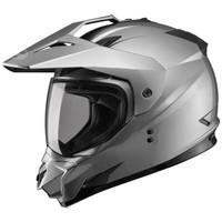 GMax GM11D Dual Sport Helmet Silver