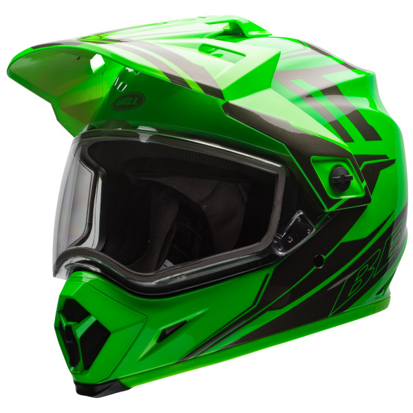 Bell MX-9 Adventure Barricade Snow Helmet with Dual Shield Green