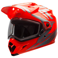 Bell MX-9 Adventure Barricade Snow Helmet with Dual Shield Orange