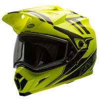 Bell MX-9 Adventure Barricade Snow Helmet with Dual Shield Yellow