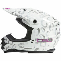 GMax DSG GM76X Leopard Helmet  White