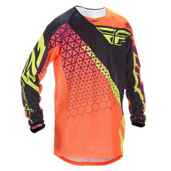 Fly Racing Youth Kinetic Trifecta Mesh Jersey Orange
