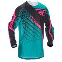 Fly Racing Youth Kinetic Trifecta Mesh Jersey Blue