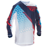 Fly Racing Youth Kinetic Trifecta Mesh Jersey White