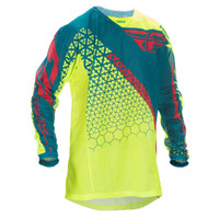 Fly Racing Youth Kinetic Trifecta Mesh Jersey Yellow