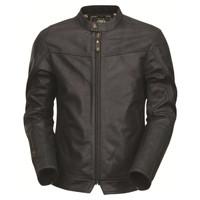Roland Sands Design Walker Brown Leather Jacket  Black