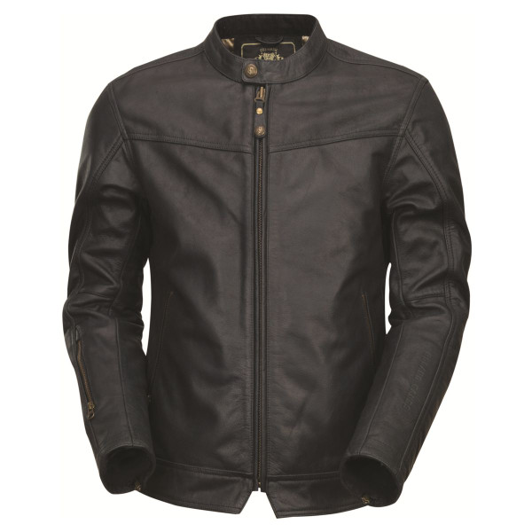Roland Sands Design Walker Brown Leather Jacket  Black