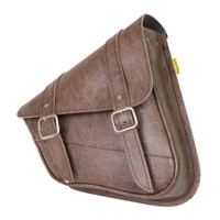 Willie & Max Revolution Universal Dual Swingarm Saddlebags Brown