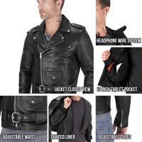 Viking Cycle American Eagle Leather Jacket for Men all in One View