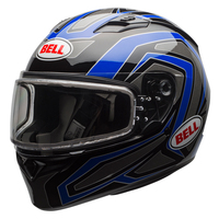 Bell Qualifier Machine Snow Helmet with Dual Shield Blue