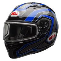 Bell Qualifier Machine Snow Helmet with Dual Shield Blue