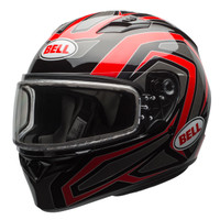 Bell Qualifier Machine Snow Helmet with Dual Shield Red