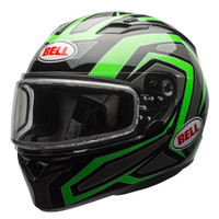 Bell Qualifier Machine Snow Helmet with Dual Shield Green