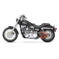Viking Dellingr Brown Dyna Motorcycle Solo Bag 1
