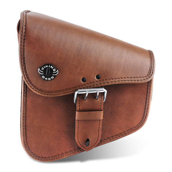 Viking Dellingr Brown Softail Motorcycle Solo Bag