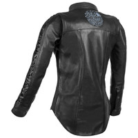 Speed And Strength Women's Black Heart Leather Shirt 2