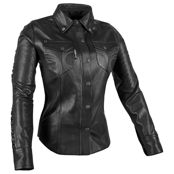 Speed And Strength Women's Black Heart Leather Shirt 1